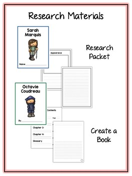 Women Explorers Research Project -12 People Vocab Cards, Packet, Book & More