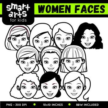 Women Faces Clip Art