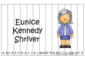 Women History Eunice Kennedy themed Alphabet Sequence Puzz