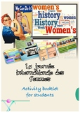 Women History Month in French activities printable
