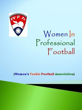 Women In Professional Football: WFA (Women's Tackle Football Association)