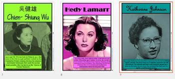 Women In Science Posters (1-9) Bundle/Editable