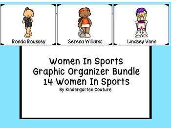 Women In Sports   Graphic Organizer Bundle  15 Women In Sports