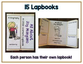 Women Inventors Reports - 17 Lapbooks Research & Informational Writing