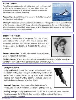 Women Leaders - Research Ideas and Writing Prompts