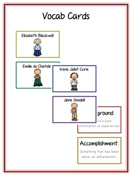 Women Scientists Research Project -17 People Vocab, Rubrics, Packet, Book & More