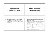 Women & Slaves in Jamestown Foldable SOL VS.3e