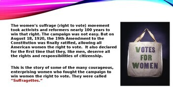 Suffragettes - Women who fought for the right to vote