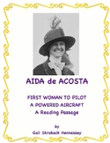 Women's History:Aida de Acosta(1st woman to fly powered ai