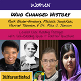 Women Who Changed History Close Reading Passages Bundle, Digital Quizzes, + More