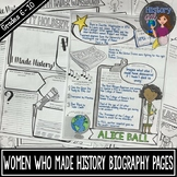 Women Who Made History Biography Pages