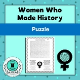 Women Who Made History-Word Search