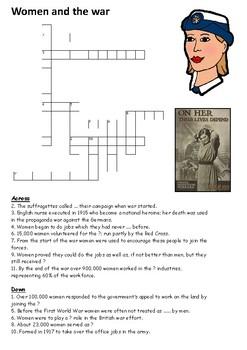 Women and World War One Crossword