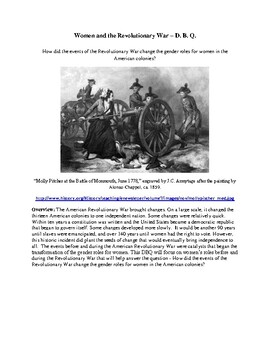 Women and the Revolutionary War DBQ