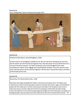 Women and the Silk Roads (AP World -  Structured Academic Controversy)