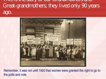 Women's History-Women and the Vote Power Point