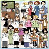 Women at Work Clip Art - Jobs Clip Art - Occupation - Care