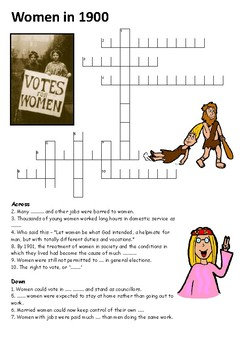 Women in 1900 Crossword