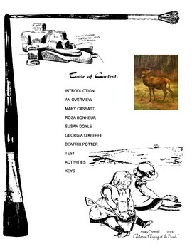 Women in Art (Cassatt, Bonheur, Doyle, O'Keefe, Potter) Activities and Handouts