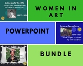 Women in Art Power Point *BUNDLE* (O'Keeffe, Kahlo, Nevelson)