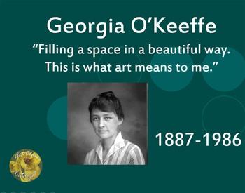Women in Art Power Point *BUNDLE* (O'Keeffe, Kahlo, Nevelson)