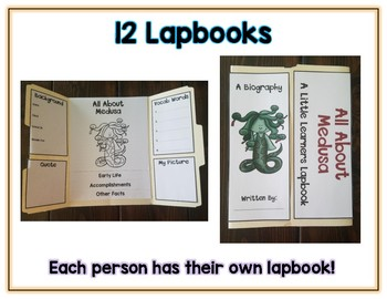 Women in Greek Mythology Reports - 12 Lapbooks Research & Informational Writing