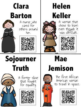 Women in History: 16 QR Codes for Daily Five Listen to Reading Centers