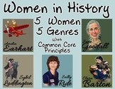 Women in History Reading Comprehension - Poetry, Prose, and Drama - RL 4.5