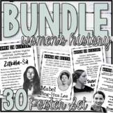 Women's History Poster Set Bundle (Plus Task Cards, Stations, & More!)