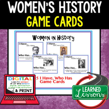 Women in History 35 I Have Who Has Game Cards