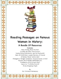 Women's History: Bundle of Ten Reading Passages on Women in History