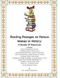 Women's History: Bundle of Ten Reading Passages on Women i
