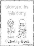 Women in History Coloring Book worksheets.  Preschool-2nd Grade