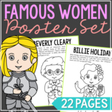 Women in History Biography Coloring Page Crafts, Women's History Month BUNDLE