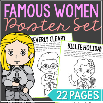 Famous Women Biography Coloring Page Crafts Women S History Month Vol 1