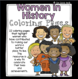 Women in History Coloring Pages (Women's History Month)
