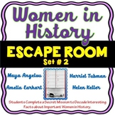 Women in History ESCAPE ROOM! Set #2 - Harriet Tubman, Amelia Earhart &more
