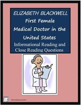ELIZABETH BLACKWELL First US Woman Medical Doctor