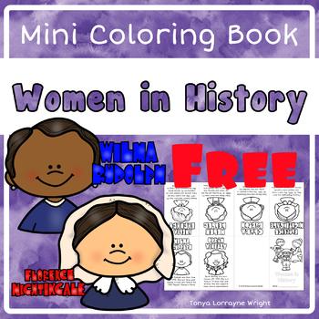 Women in History Mini Coloring Book