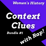 Women in History Context Clues Worksheets Using Rap Songs Bundle
