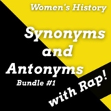 Women in History Passages with Synonyms and Antonyms Works