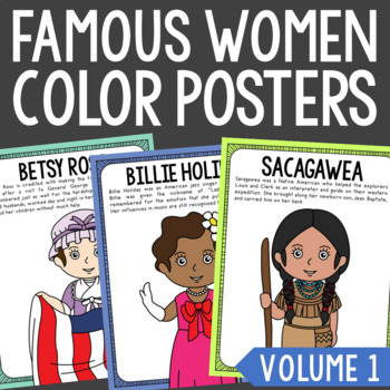 Women in History Poster Set, Women's History Month, Biography