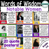 Women in History Quotes Posters