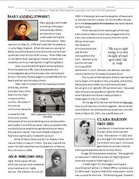 Women in History Reading