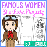 Women in History Research Brochure Biography Templates, Women's History Month