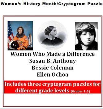 Women in History| Women Leaders| Bessie Coleman, Susan B. Anthony, Ellen Ochoa