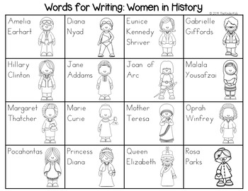 Women in History Word List - Writing Center