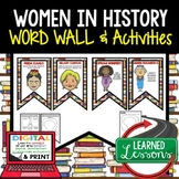 Women in History Word Wall Pennants & Activity Pages with Google Link