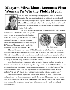 Great Women in Mathematics - Maryam Marizkhani