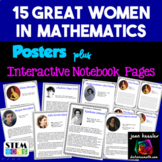 Great Women in Mathematics Posters plus INB Pages, Back to School Bulletin Board